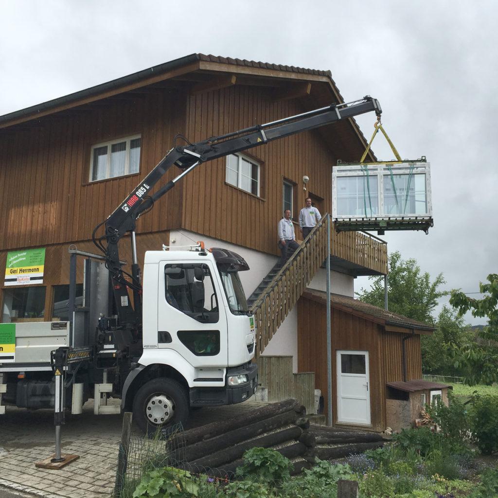 LKW-Kran-Fenster